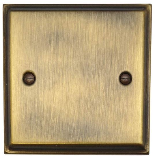 Deco Plate Antique Bronze